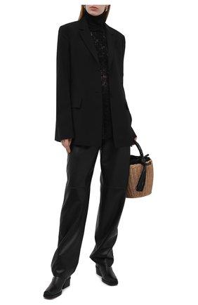 Женская блузка PACO RABANNE черного цвета, арт. 20HJT0272PA0170 | Фото 2