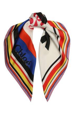 Женский шелковый платок CHLOÉ разноцветного цвета, арт. CHC21UT075SLK | Фото 1