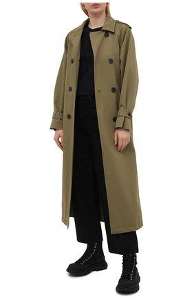 Женские текстильные ботинки tread slick ALEXANDER MCQUEEN черного цвета, арт. 652280/W4L3K | Фото 2 (Подошва: Платформа; Материал внешний: Текстиль; Материал внутренний: Натуральная кожа; Каблук высота: Низкий; Женское Кросс-КТ: Хайкеры-ботинки)