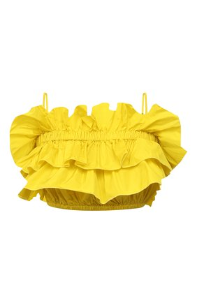 Женский топ MSGM желтого цвета, арт. 3042MDT106 217305 | Фото 1