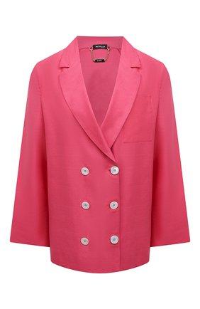 Женский жакет из хлопка и льна KITON розового цвета, арт. D49539H07724   Фото 1