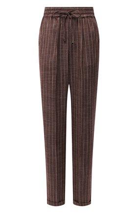 Женские кашемировые брюки KITON коричневого цвета, арт. D37102K06T11 | Фото 1