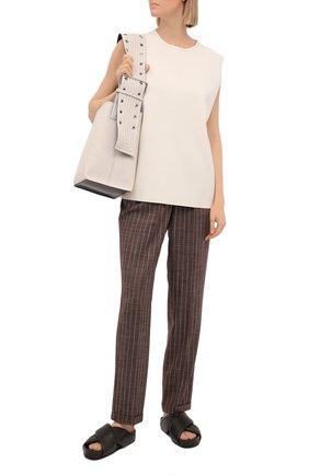 Женские кашемировые брюки KITON коричневого цвета, арт. D37102K06T11 | Фото 2