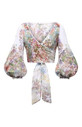 Женская хлопковая блуза CHARO RUIZ IBIZA разноцветного цвета, арт. 212102 | Фото 1
