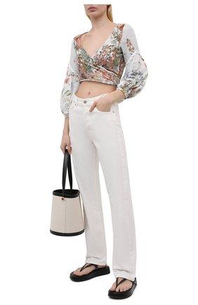Женская хлопковая блуза CHARO RUIZ IBIZA разноцветного цвета, арт. 212102 | Фото 2