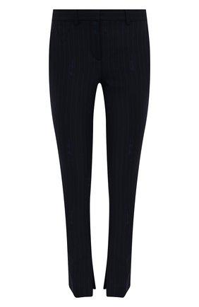 Женские шерстяные брюки VERSACE темно-синего цвета, арт. A89061/1F01181 | Фото 1