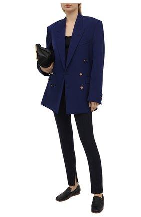 Женские шерстяные брюки VERSACE темно-синего цвета, арт. A89061/1F01181 | Фото 2