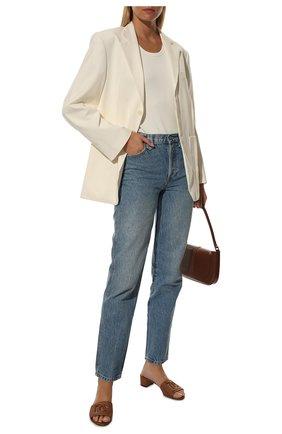 Женские кожаные мюли crystal DOLCE & GABBANA коричневого цвета, арт. CR1139/A0049 | Фото 2 (Материал внутренний: Натуральная кожа; Каблук тип: Устойчивый; Подошва: Плоская; Каблук высота: Низкий)