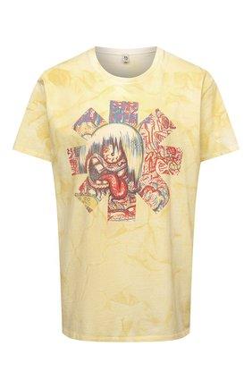 Женская хлопковая футболка R13 желтого цвета, арт. R13W7775-51 | Фото 1