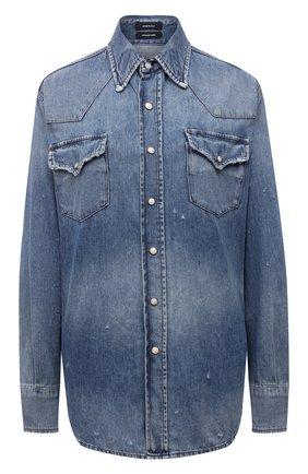 Женская джинсовая рубашка R13 голубого цвета, арт. R13W8110-934A   Фото 1