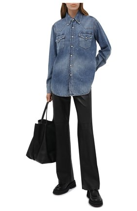 Женская джинсовая рубашка R13 голубого цвета, арт. R13W8110-934A   Фото 2