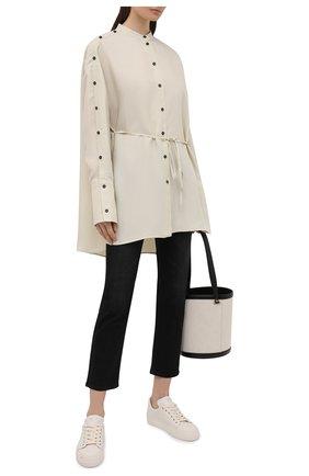 Женские кожаные кеды city TOM FORD белого цвета, арт. W2878T-LCL057 | Фото 2