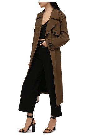 Женские комбинированные босоножки chain TOM FORD черного цвета, арт. W2910T-LCL153 | Фото 2
