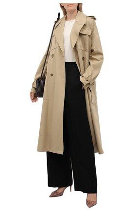 Женские кожаные туфли vlogo signature VALENTINO темно-бежевого цвета, арт. VW0S0R01/TMK   Фото 2
