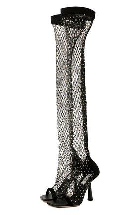 Женские текстильные ботфорты mixon 100 JIMMY CHOO черного цвета, арт. MIX0N 100/ZTZ | Фото 1