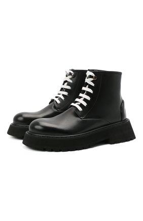 Женские кожаные ботинки MARSELL черного цвета, арт. MW6300/PELLE VITELL0 | Фото 1