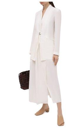 Женские кожаные сабо MARSELL бежевого цвета, арт. MW6431/PELLE VITELL0 | Фото 2