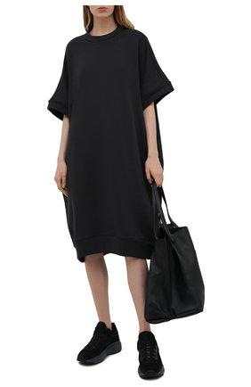 Женское хлопковое платье Y`S серого цвета, арт. YD-T72-069   Фото 2