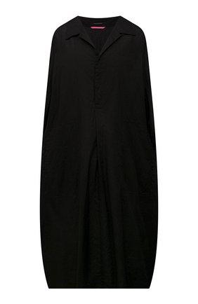 Женское хлопковое платье Y`S черного цвета, арт. YD-D41-035   Фото 1