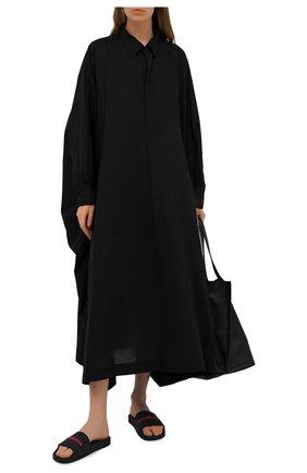 Женское хлопковое платье Y`S черного цвета, арт. YD-D41-035   Фото 2