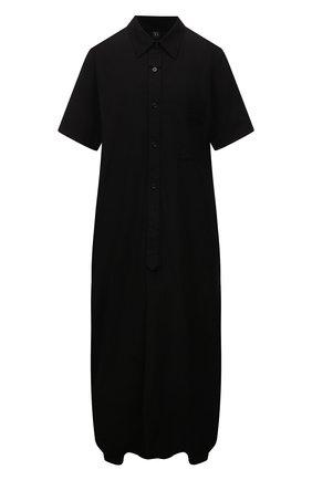 Женское хлопковое платье Y`S черного цвета, арт. YD-D04-001   Фото 1