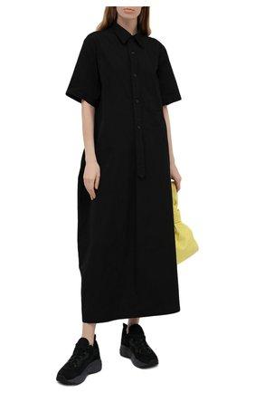 Женское хлопковое платье Y`S черного цвета, арт. YD-D04-001   Фото 2