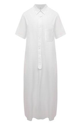 Женское хлопковое платье Y`S белого цвета, арт. YD-D04-001   Фото 1