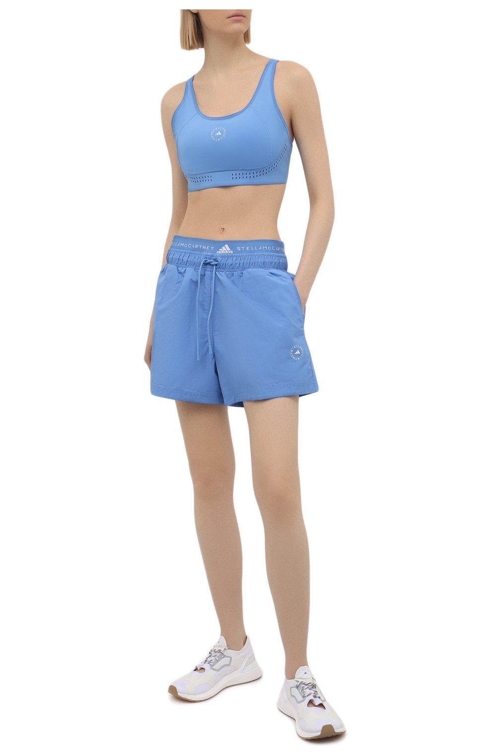 Женский бра-топ ADIDAS BY STELLA MCCARTNEY голубого цвета, арт. GQ1214 | Фото 2
