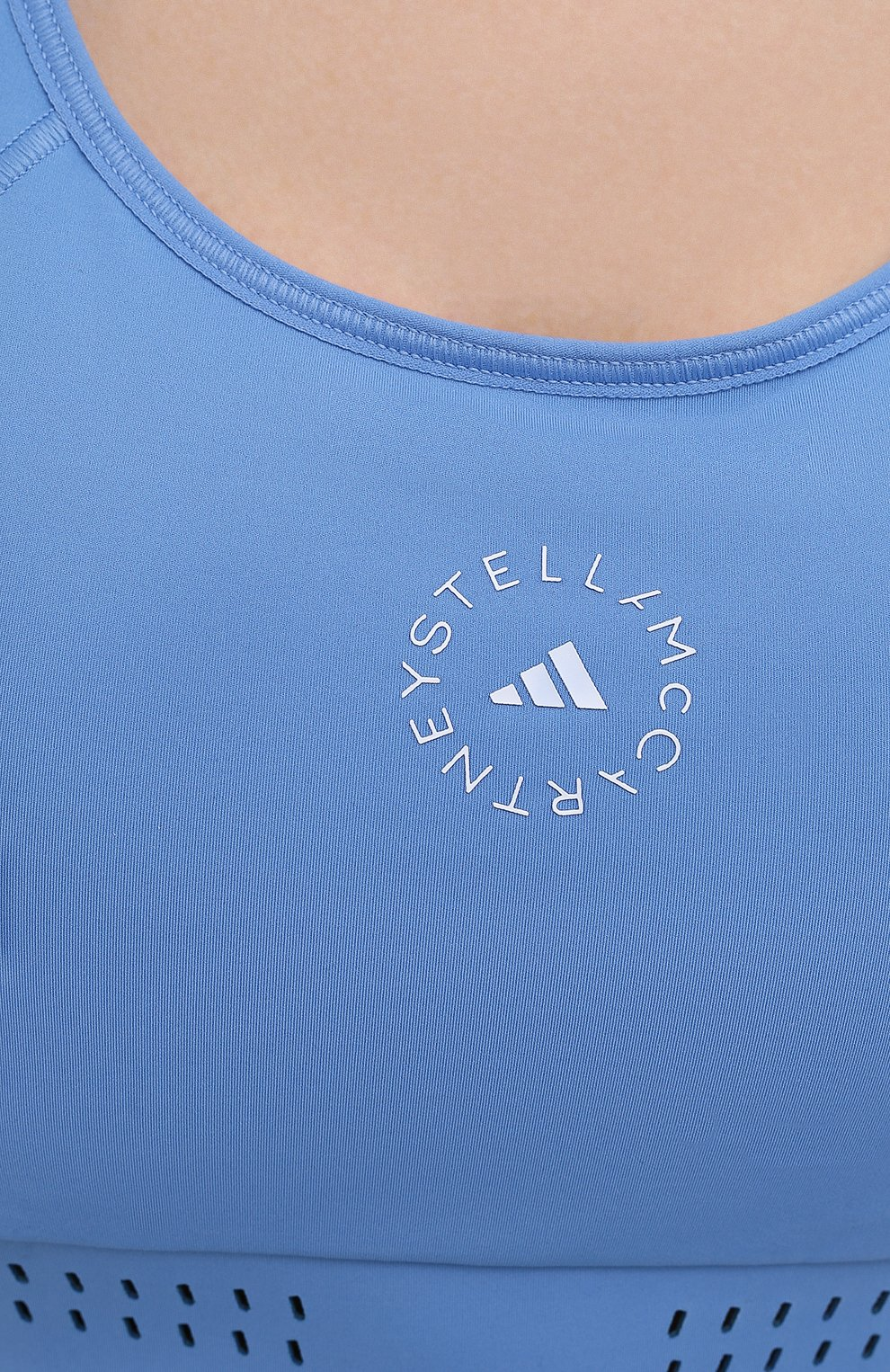 Женский бра-топ ADIDAS BY STELLA MCCARTNEY голубого цвета, арт. GQ1214 | Фото 5