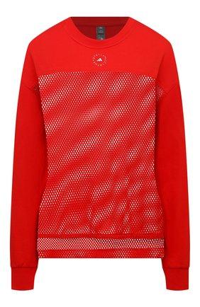 Женская хлопковый лонгслив ADIDAS BY STELLA MCCARTNEY красного цвета, арт. GM5393 | Фото 1