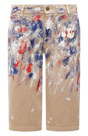Женские джинсовые шорты PHILOSOPHY DI LORENZO SERAFINI разноцветного цвета, арт. A0319/2133 | Фото 1 (Кросс-КТ: Деним; Стили: Спорт-шик; Женское Кросс-КТ: Шорты-одежда; Материал внешний: Хлопок; Длина Ж (юбки, платья, шорты): Миди)