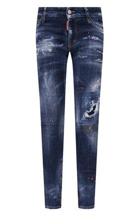 Женские джинсы DSQUARED2 синего цвета, арт. S72LB0407/S30342 | Фото 1