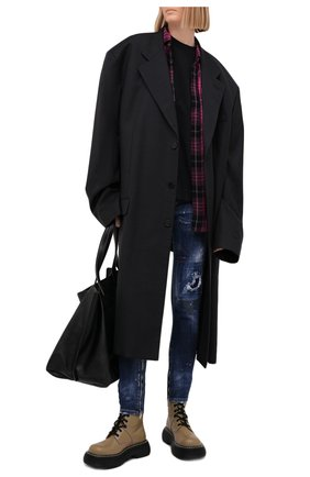 Женские джинсы DSQUARED2 синего цвета, арт. S72LB0407/S30342 | Фото 2