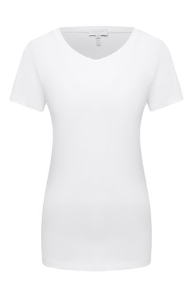 Женская хлопковая футболка ESCADA SPORT белого цвета, арт. 5033396 | Фото 1