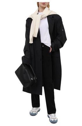 Женские текстильные кроссовки ACNE STUDIOS белого цвета, арт. AD0205 | Фото 2