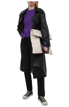 Женские текстильные кеды ACNE STUDIOS черного цвета, арт. AD0347   Фото 2