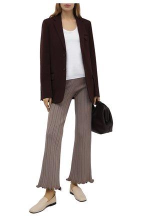 Женские брюки из вискозы ACNE STUDIOS светло-коричневого цвета, арт. AK0372 | Фото 2