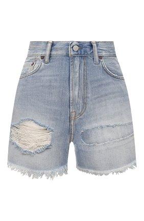 Женские джинсовые шорты ACNE STUDIOS голубого цвета, арт. AE0037 | Фото 1