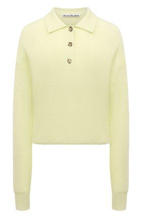 Женский шерстяной пуловер ACNE STUDIOS желтого цвета, арт. A60247 | Фото 1