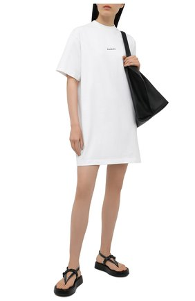 Женское хлопковое платье ACNE STUDIOS белого цвета, арт. A20281 | Фото 2