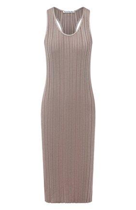 Женское платье из вискозы ACNE STUDIOS светло-коричневого цвета, арт. A20269 | Фото 1