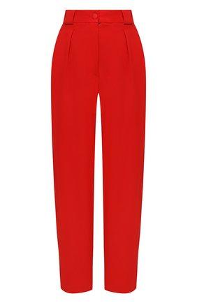 Женские брюки из вискозы DOLCE & GABBANA красного цвета, арт. FTB2ZT/FURDV | Фото 1