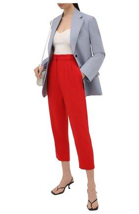 Женские брюки из вискозы DOLCE & GABBANA красного цвета, арт. FTB2ZT/FURDV | Фото 2