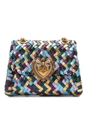 Женская сумка devotion mini DOLCE & GABBANA разноцветного цвета, арт. BB6877/A0325   Фото 1 (Сумки-технические: Сумки через плечо; Материал: Натуральная кожа; Ремень/цепочка: С цепочкой, На ремешке; Женское Кросс-КТ: Вечерняя сумка; Размер: mini)