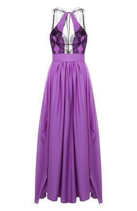 Женское шелковое платье VICTORIA BECKHAM сиреневого цвета, арт. 1221WDR002648B | Фото 1