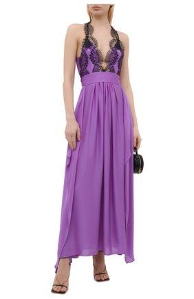 Женское шелковое платье VICTORIA BECKHAM сиреневого цвета, арт. 1221WDR002648B | Фото 2