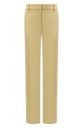 Женские шерстяные брюки VICTORIA BECKHAM желтого цвета, арт. 1221WTR002664A | Фото 1
