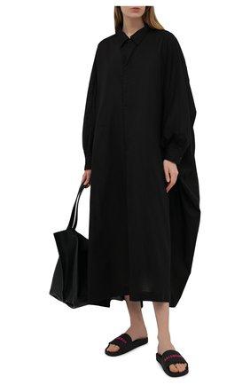 Женские резиновые шлепанцы piscine BALENCIAGA черного цвета, арт. 565547/W1S80 | Фото 2