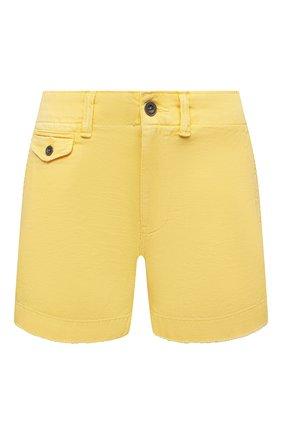 Женские джинсовые шорты POLO RALPH LAUREN желтого цвета, арт. 211797213 | Фото 1 (Женское Кросс-КТ: Шорты-одежда; Стили: Кэжуэл; Кросс-КТ: Деним; Материал внешний: Хлопок; Длина Ж (юбки, платья, шорты): Мини)
