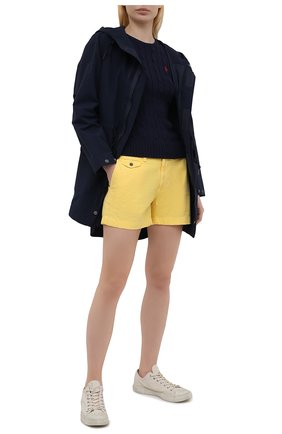 Женские джинсовые шорты POLO RALPH LAUREN желтого цвета, арт. 211797213 | Фото 2 (Женское Кросс-КТ: Шорты-одежда; Стили: Кэжуэл; Кросс-КТ: Деним; Материал внешний: Хлопок; Длина Ж (юбки, платья, шорты): Мини)